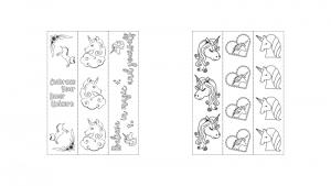 Zen PLR Magical Unicorns Journal Templates Upgrade Coloring Bookmarks