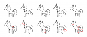 Zen PLR Magical Unicorns Journal Templates Upgrade Find the Differences Unicorn 01