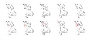 Zen PLR Magical Unicorns Journal Templates Upgrade Find the Differences Unicorn 03