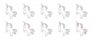 Zen PLR Magical Unicorns Journal Templates Upgrade Find the Differences Unicorn 04