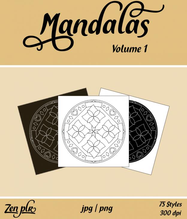 Zen PLR Mandalas Volume 01 Front Cover