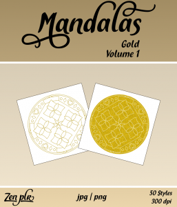 Zen PLR Mandalas Volume 01 Gold Front Cover