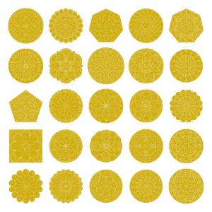 Zen PLR Mandalas Volume 01 Gold Glitter All