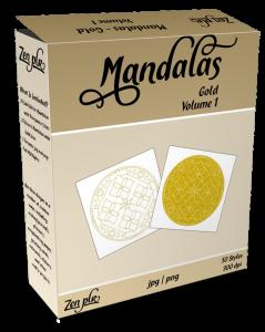 Zen PLR Mandalas Volume 01 Gold Product Cover