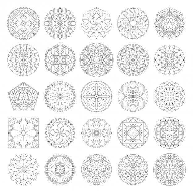 Zen PLR Mandalas Volume 01 Lineart Black Lines All