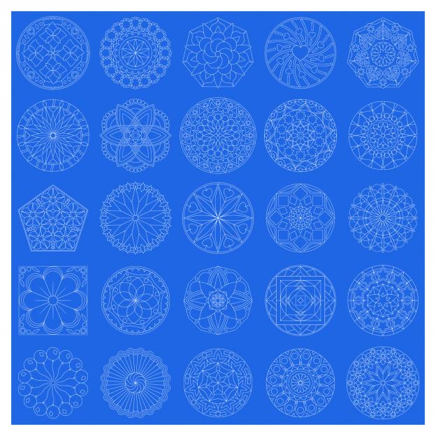 Zen PLR Mandalas Volume 01 Lineart White Lines All