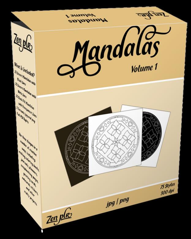 Zen PLR Mandalas Volume 01 Product Cover