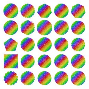 Zen PLR Mandalas Volume 01 Rainbow Glitter All