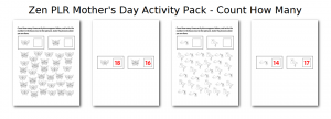 Zen PLR Mothers Day Activity Pack Count How Many