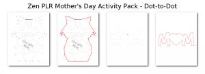 Zen PLR Mothers Day Activity Pack Dot-to-Dot