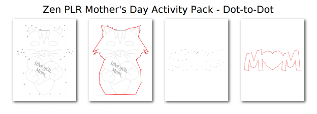 Zen PLR Mothers Day Activity Pack Dot-to-Dot