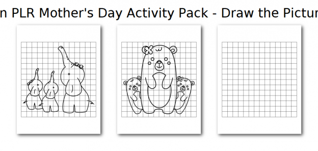 Zen PLR Mothers Day Activity Pack Draw the Pictures