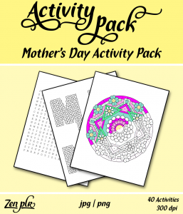 Zen PLR Mothers Day Activity Pack Front Cover