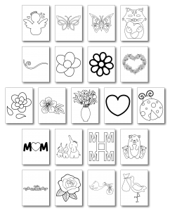 Zen PLR Mothers Day Activity Pack Graphics All