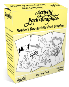 Zen PLR Mothers Day Activity Pack Graphics Product Cover