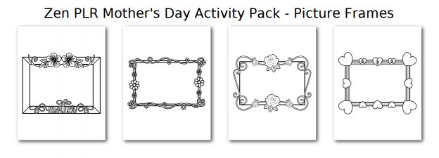 Zen PLR Mothers Day Activity Pack Picture Frames