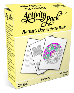 Zen PLR Mothers Day Activity Pack Product Cover