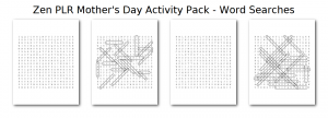 Zen PLR Mothers Day Activity Pack Word Searches