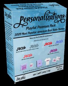 Zen PLR Personalizations Playful 2009 Premium Boys Product Cover