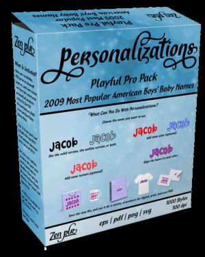 Zen PLR Personalizations Playful 2009 Pro Boys Product Cover