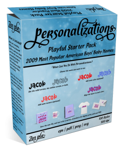 Zen PLR Personalizations Playful 2009 Starter Boys Product Cover