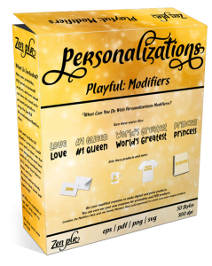 Zen PLR Personalizations Playful Modifiers Product Cover