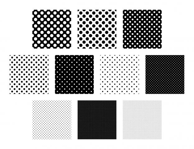 Zen PLR Polka Dots Digital Papers All Black