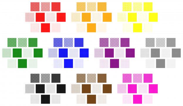 Zen PLR Polka Dots Digital Papers All Bold Colors