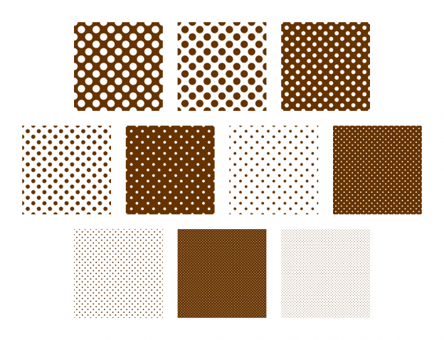 Zen PLR Polka Dots Digital Papers All Brown