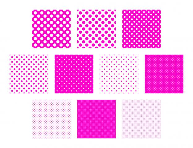 Zen PLR Polka Dots Digital Papers All Hot Pink