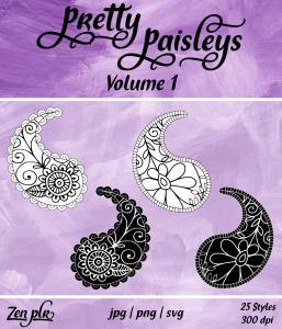 Zen PLR Pretty Paisleys Volume 01 Front Cover