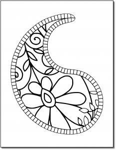 Zen PLR Pretty Paisleys Volume 01 Sample Paisley 01 White