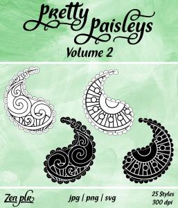 Zen PLR Pretty Paisleys Volume 02 Front Cover