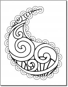 Zen PLR Pretty Paisleys Volume 02 Sample Paisley 01 White