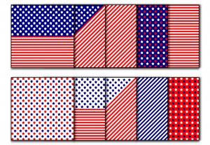 Zen PLR Stars and Stripes Digital Papers Americana 01 All Covers