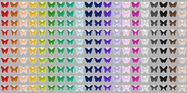 Zen PLR Stickers Watercolor Butterflies All