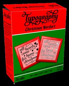 Zen PLR Typography Christmas Wordart Product Cover