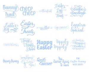 Zen PLR Typography Easter Glitter Wordart Light Blue
