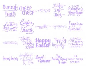Zen PLR Typography Easter Glitter Wordart Light Purple