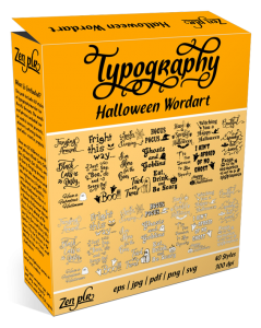 Zen PLR Typography Halloween Wordart Product Cover