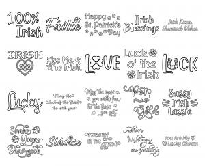 Zen PLR Typography Irish Wordart Outline