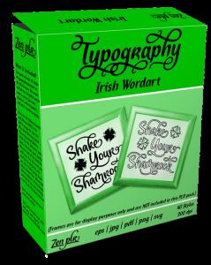 Zen PLR Typography Irish Wordart Product Cover