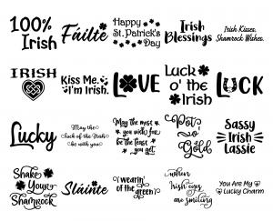 Zen PLR Typography Irish Wordart Solid