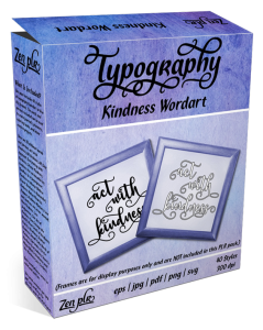 Zen PLR Typography Kindness Wordart Product Cover