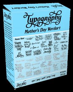 Zen PLR Typography Mother's Day Wordart Product Cover