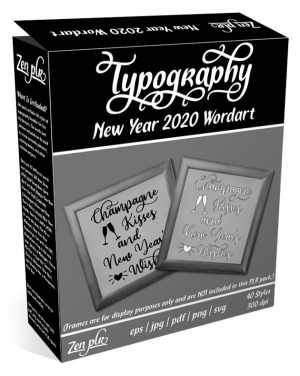 Zen PLR Typography New Year 2020 Wordart Product Cover