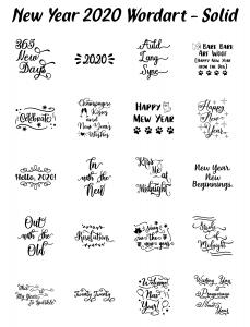 Zen PLR Typography New Year 2020 Wordart Solid