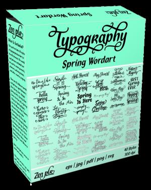 Zen PLR Typography Spring Wordart Product Cover