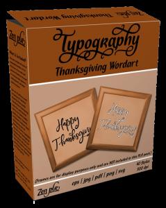 Zen PLR Typography Thanksgiving Wordart Product Cover