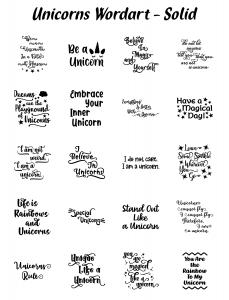 Zen PLR Typography Unicorn Wordart Solid